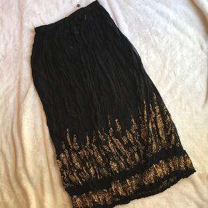 Vintage! fabulous! 80s broomstick skirt